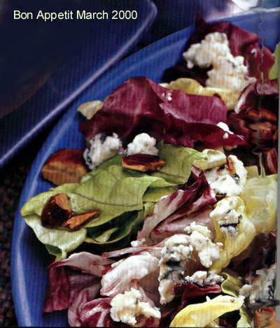 Radicchio Salad With Spanish Blue Cheese and Peppered Almonds