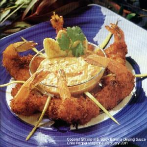 Coconut Shrimp with Spicy Banana Dipping Sauce