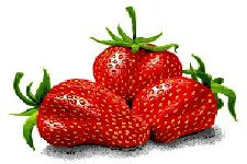 Three great looking strawberries for you.