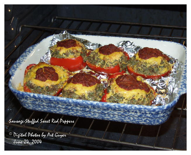 Sausage-Stuffed Sweet Red Peppers